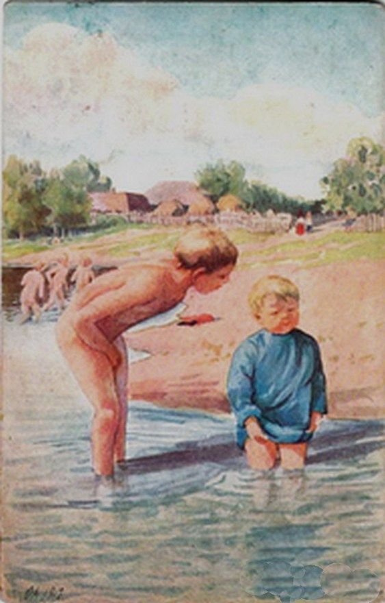 Девочка И Голый Мальчик Писает