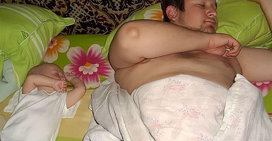 Спящие Голые Волосатые Мамы