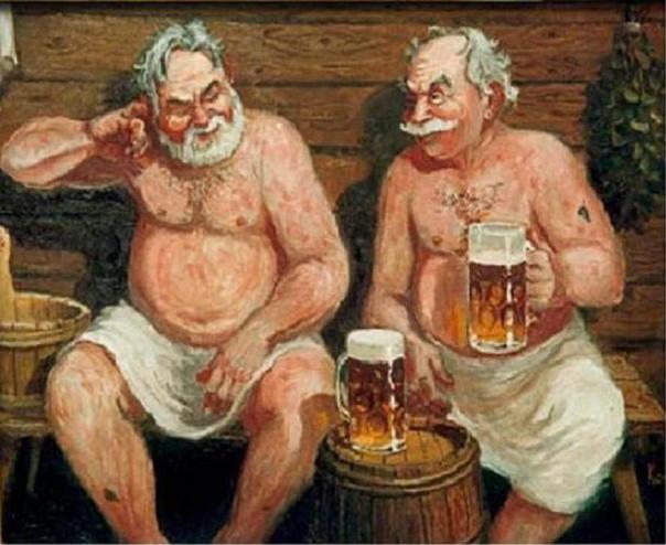 Голые Старики В Бане